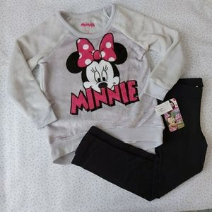 2 PC DISNEY  Minnie Sweater and Leggings  4
